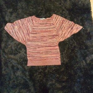 short wide sleeved sweater